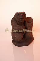 Медведь с дуплом на подставке  большой