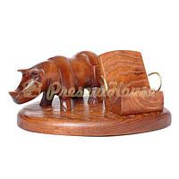 Подставка под смартфон со скульптурой носорог