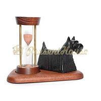 Часы песочные 5 мин. На подставке со скульптурой Собаки Клякса