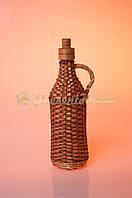 Бутылка плетеная из лозы