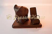 Слон коричневый с подставкой под мобильный телефон