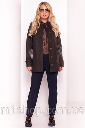 пальто демисезонное женское Modus Латте 5429, фото 2