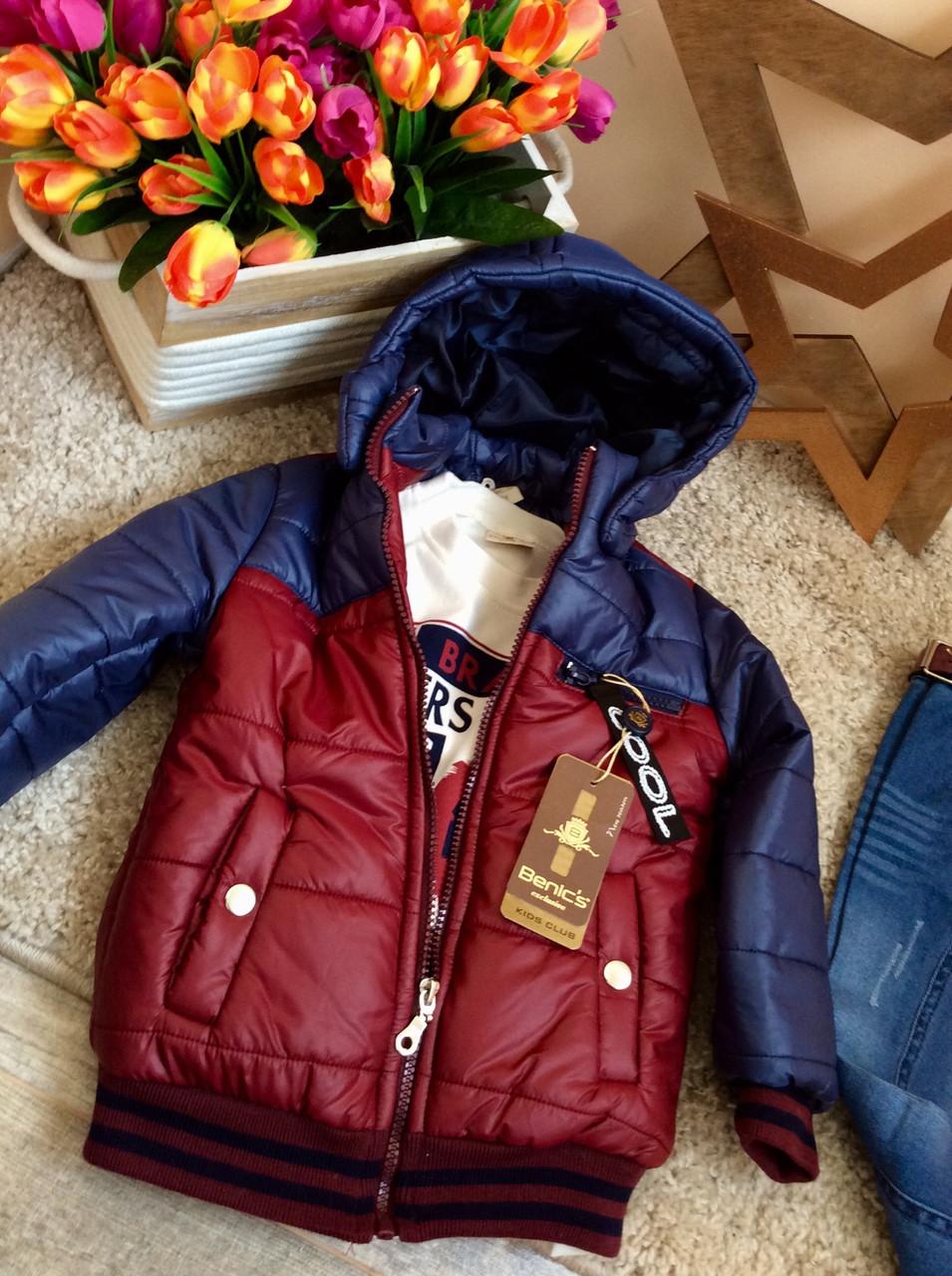 Куртка демисезонная в комплекте с джинсами и батником на мальчика от Benics 1-4 г Турция опт и розница