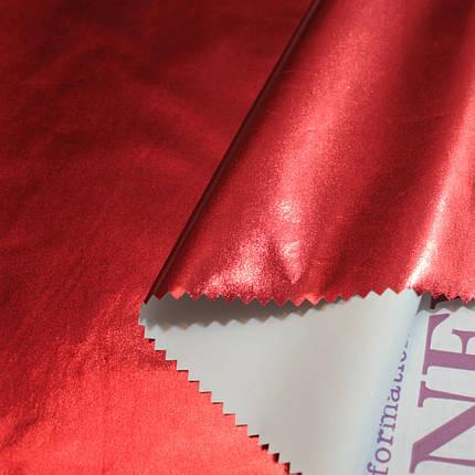 Плащевка металлик (фольга) красная, фото 2