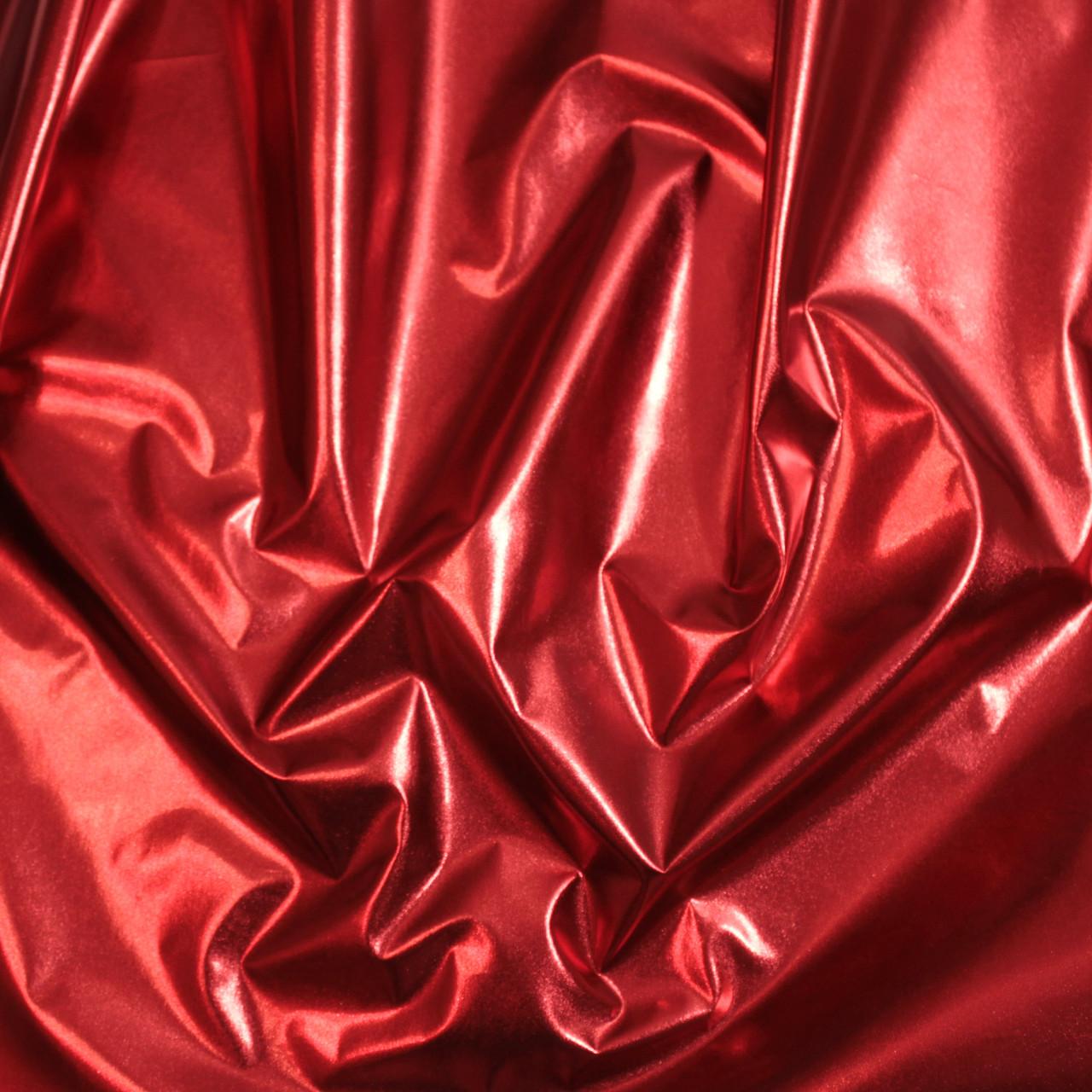 Плащевка металлик (фольга) красная