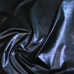 "Плащевка металлик ""фольга"" темно-синяя"