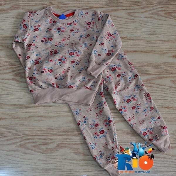 """Детский костюм из плотного трикотажа """"петелька""""(батник,штаны), для девочки 2-3,3-4,4-5,6-7,7-8 лет (5 ед в уп)"""
