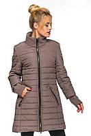Женская демисезонная куртка комбинированная - кашемир с плащевкой, фото 1