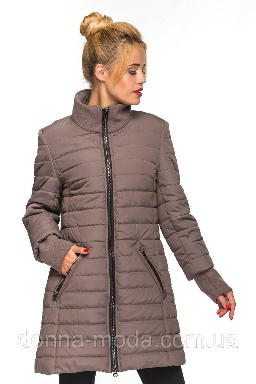 6359c3b6ce8 Женская демисезонная куртка комбинированная - кашемир с плащевкой -  интернет-магазин