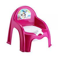 Горшок-стульчик детский со спинкой Elif Plastik 313