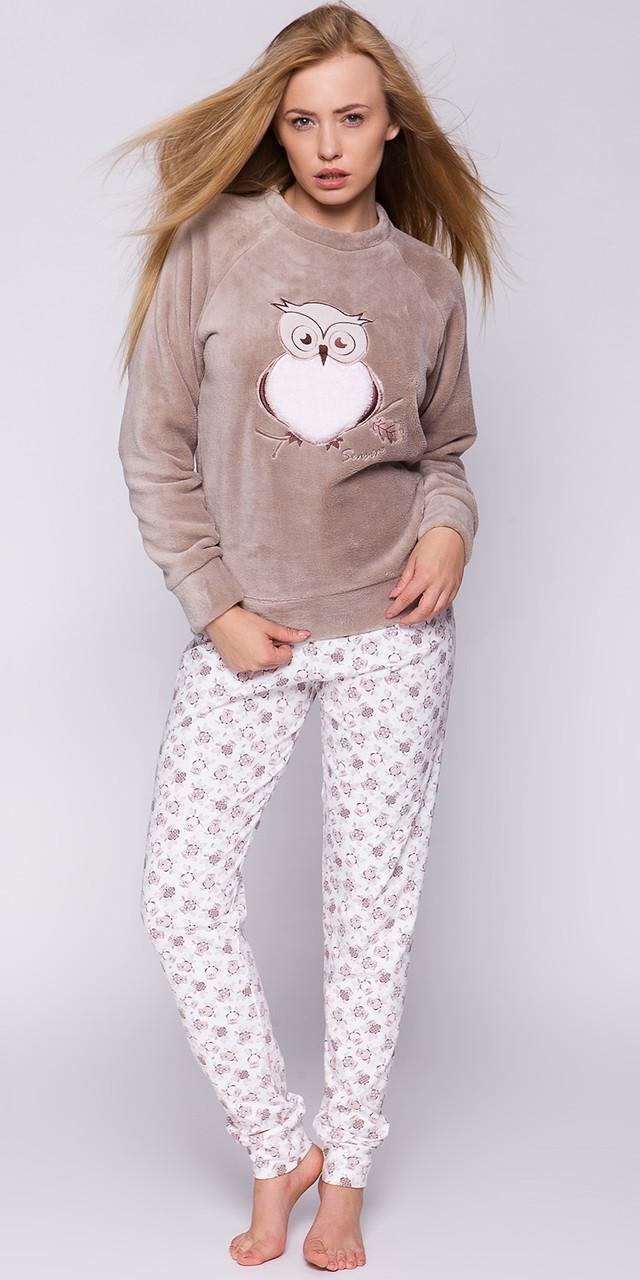 Стильна жіноча піжама  із принтом сови SENSIS Puchacz  pizama S