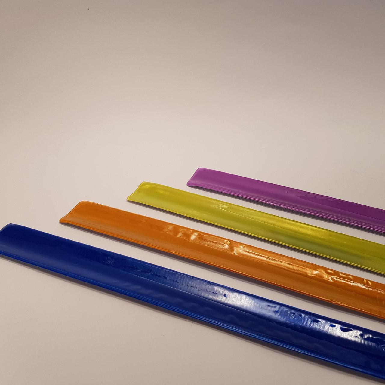 Яркий светоотражающий слэп-браслет (40 см)