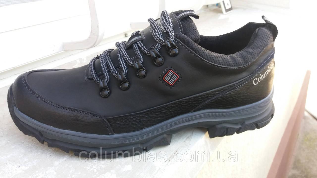 Осенние мужские кожаные кроссовки Columbiia 4046