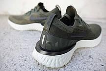 Женские кроссовки Nike Epic React Flyknit Olive AQ0070-300, Найк Эпик Реакт Флайнит, фото 3