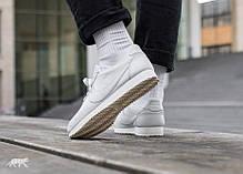 "Женские кроссовки Nike Classic Cortez Leather ""All White"" 807471-102, Найк Кортез, фото 3"