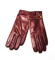 Женские перчатки из натуральной кожи козы.