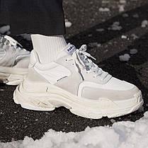 Женские кроссовки Balenciaga Triple S White Ecru 506346 W09T1 9000, Баленсиага Трипл С, фото 2