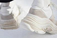 Женские кроссовки Balenciaga Triple S White Ecru 506346 W09T1 9000, Баленсиага Трипл С, фото 3