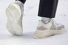 Мужские кроссовки Balenciaga Triple S White Ecru 506346 W09T1 9000, Баленсиага Трипл С, фото 3