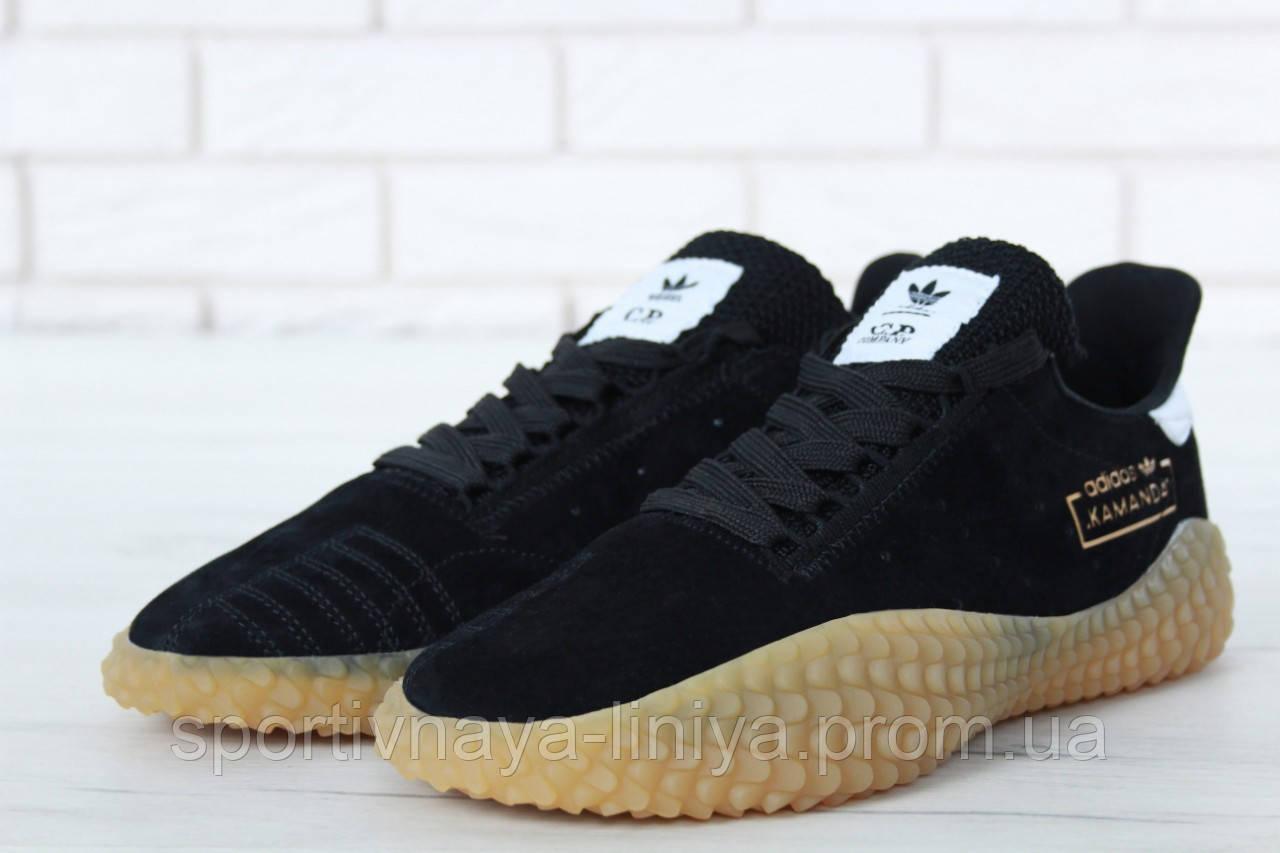 Кроссовки мужские черные Adidas Kamanda (реплика)