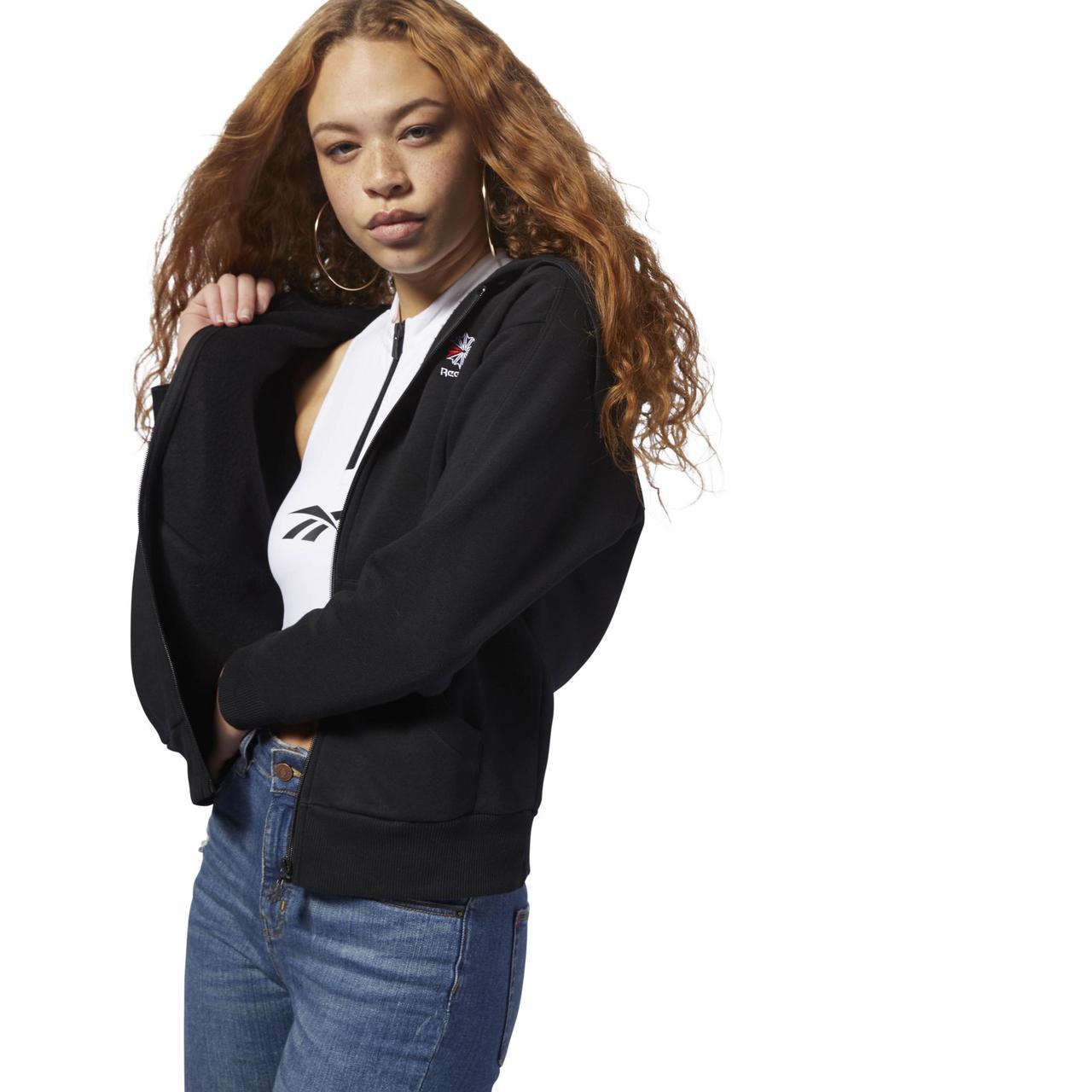 Женская толстовка Reebok Classic Fleece Zip - Up (Артикул: DH1376)