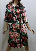 Велюровый халат большого размера , от 52 до 60р-ра, фото 2