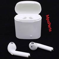 Беспроводные наушники Bluetooth AirPods i7s с кейсом подзарядки