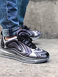 Мужские кроссовки Nike Air Max 720 Gray. Живое фото. Топ реплика, фото 8