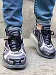Мужские кроссовки Nike Air Max 720 Gray. Живое фото. Топ реплика, фото 7