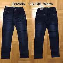 Джинсовые брюки утепленные для мальчиков Grace 116-146 р.р.