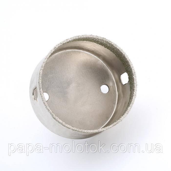 Алмазное сверло 70 мм, коронка для сверления стекла, керамики, мрамора