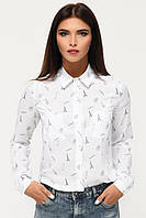 Donna-M Рубашка BK-7673-3, (Белый-синий) Рубашка BK-7673-3, фото 1