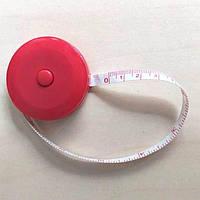 Мини-рулетка для шитья 1.5м / 7мм (лента из стекловолокна) красная