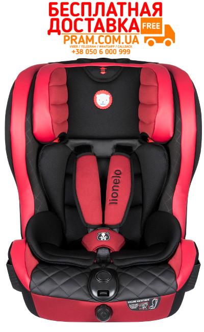 Автокресло группы 1-2-3 (9-36 кг) Lionelo Jasper Эко-кожа Red Красный