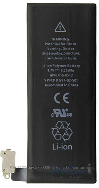 Аккумулятор Apple iPhone 4 / 1420 mAh / Оригинал