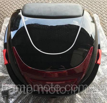 Кофр / багажник чорний пластиковий міцний з шоломом, фото 2