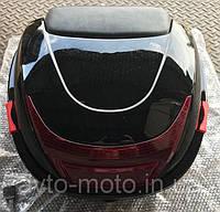 Кофр / багажник черный пластиковый прочный со шлемом