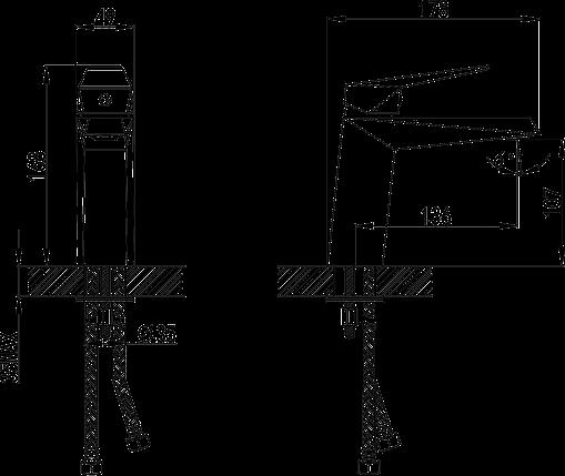 Змішувач для раковини Volle Orlando 15181100, хром, 35мм, фото 2