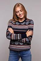 Donna-M свитер Мозаика тёмно-синий, фото 1