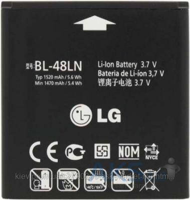 Аккумулятор LG P725 Optimus 3D Max / BL-48LN / 1520 mAh / Оригинал