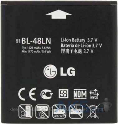 Аккумулятор LG P725 Optimus 3D Max / BL-48LN / 1520 mAh / Оригинал, фото 2