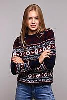 Donna-M свитер Мексика тёмно-синий+бордо, фото 1
