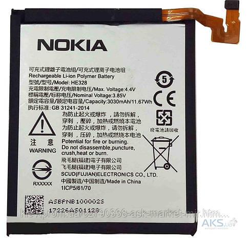 Аккумулятор Nokia 8 Dual Sim / HE328 / 3030 mAh / Оригинал, фото 2
