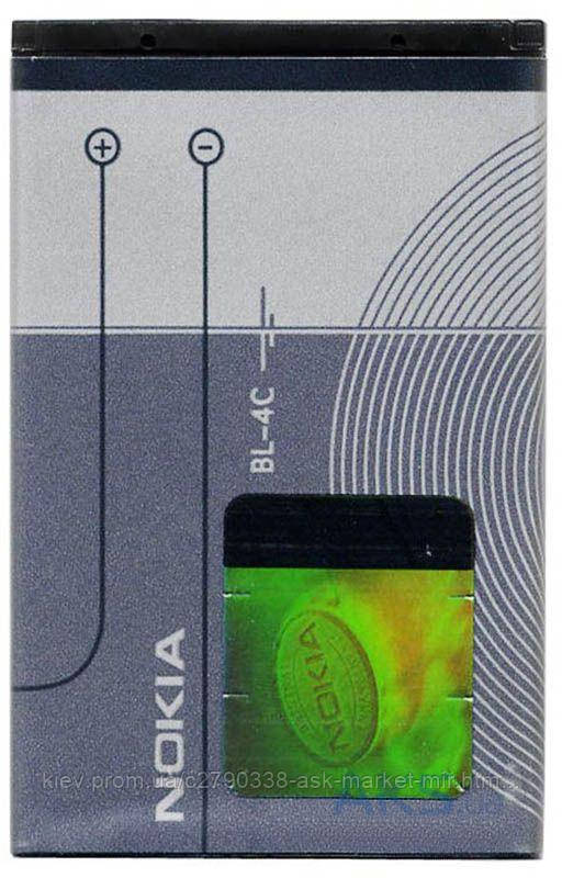 Аккумулятор Nokia BL-4C / 860 mAh / Оригинал