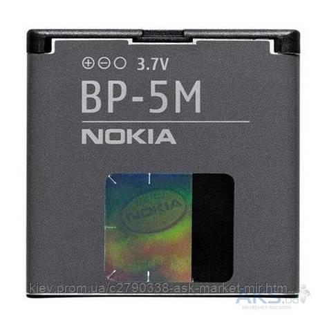 Аккумулятор Nokia BP-5M / 900 mAh / Оригинал, фото 2