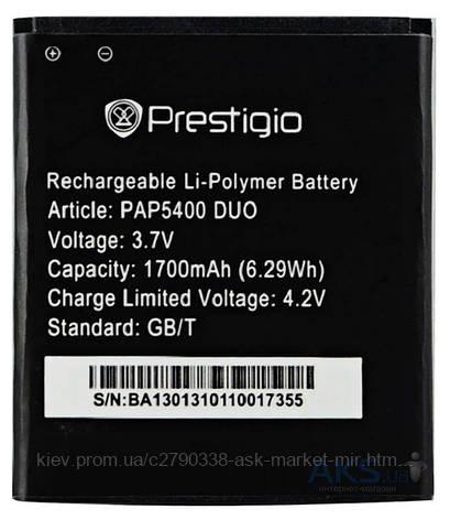 Аккумулятор Prestigio MultiPhone 5400 Duo / PAP5400 DUO / 1700 mAh / Оригинал, фото 2