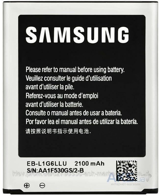 Аккумулятор Samsung i9300 Galaxy S3 / EB-L1G6LLU / 2100 mAh / Оригинал