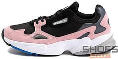 Женские кроссовки Adidas Falcon W Black/Pink B28126, Адидас Фалкон