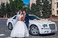 Кортеж автомобилей на свадьбу Chrysler 300c (Белый Крайслер на свадьбу)