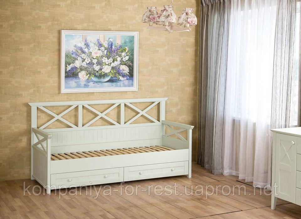 """Кровать-диван """"Фолк"""" в стиле Прованс"""